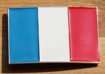 """Gesp buckle  """" Vlag Frankrijk """""""
