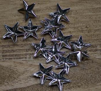 """Studs  """" Star """"  Zilver kleurig"""