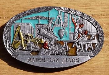 """Losse gesp  """" American made """"  ( Bouwvakker )"""