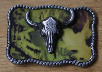 "Buckle / gesp  "" Schedel ""  Camouflage"