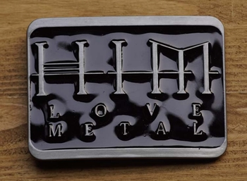 "Muziekband buckle  "" Him """