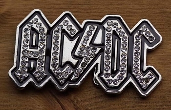 "Music band buckle  "" AC & DC ""   Strass"