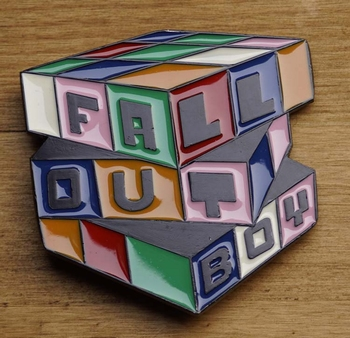 "Music band buckle  "" Fall out boy """