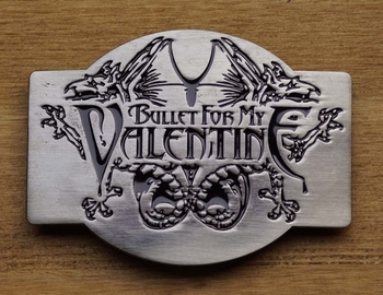 "Music band buckle  "" Bullet for my Valentine """