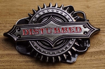 "Music band buckle  "" Distubbed """