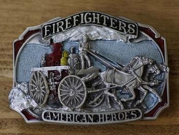 """Gesp  """" Firefighters American heroes """"  ( Brandweerman )"""