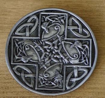 """Buckle / gesp  """" Abstract Celtic Bird """""""