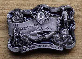 """Losse gesp   """" The American Mason """"  ( Metselaar )"""