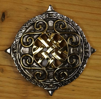 "Belt Buckle  "" Round shield with knot motieven "" UITVERKOCHT"