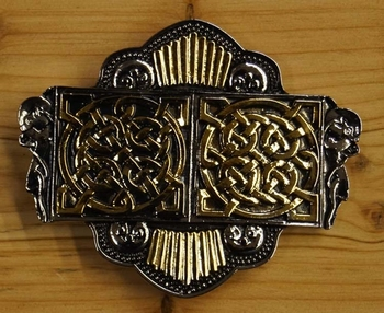 "Buckle / gesp  ""  Two celtic knot """