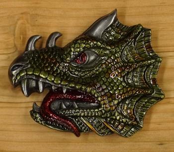 "Buckle / gesp  "" Dragon head """
