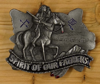"Buckle / gesp  "" Spirit of our fathers """