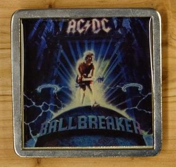 """Belt buckle  """" AC / DC """"    Ballbreaker"""