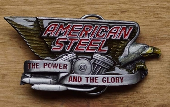 "Buckle "" American steel  ""  The power and the  UITVERKOCHT"