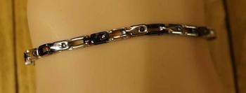 """Armband  """" Zilver kleurig / zwart """""""
