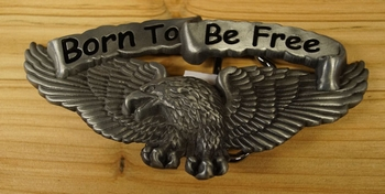 "Motor buckle  "" Born to be free ""   Adelaar"