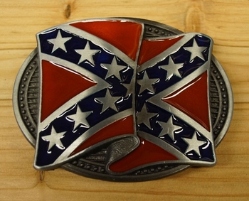 "Buckle / gesp  "" Rebel vlag wapperend """