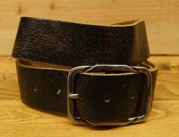 """Leren jeans riem  Donker bruin  """"  Take it """" 4,5 cm breed"""