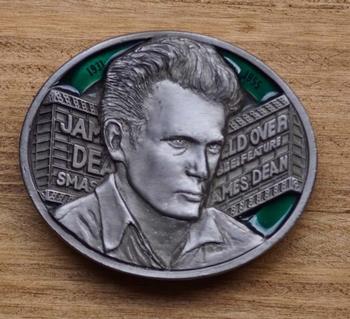 """Muziek gesp  """" James Dean """"  Zilver / groen"""