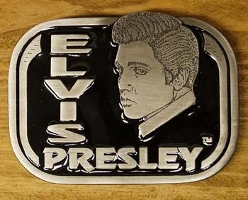 """Elvis buckle  """" Elvis Presley  Hoofd """"  Zwart"""
