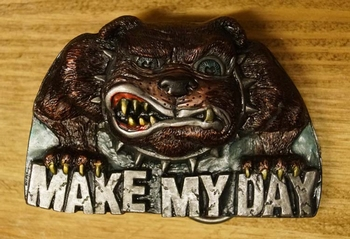 "Riem buckle  "" Make my day ""  hond"