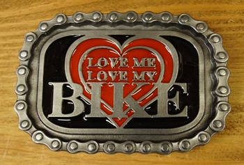 "Buckle / gesp  "" Love me, love my bike """