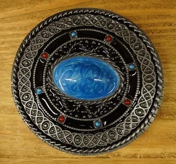 """Buckle  """" Celtic teken met turquoise steen """""""