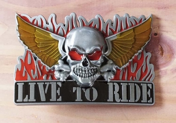 "Buckle ""  Live to ride """