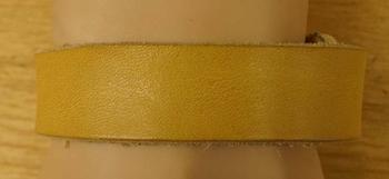 """Leren armband   """" Beige / geel """""""