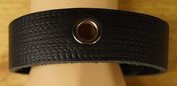 """Armband voor op de boven arm  """" Sierwerk + hools """"  Zwart"""