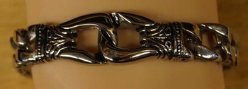 """Armband """" Keltische tekens """" Zilverkleurig"""