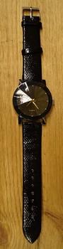 """Heren horloge  """" Zwart glans  """""""