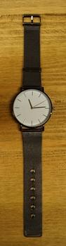 "Heren horloge  "" Donker metaal kleurig  """