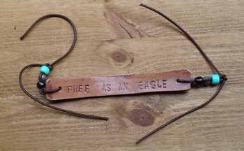 "Leren armband  ""  Free as an eagle """
