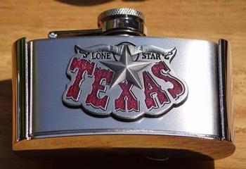 """Buckle / gesp  """" Heupflesje met Texas """""""