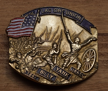 "Buckle  "" Billy Yank,  The flag of union """