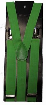 """Bretels 3-clips  """" Groen """""""