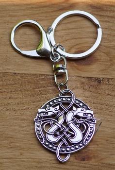 """Sleutelhanger  """" Two celtic snake  """""""
