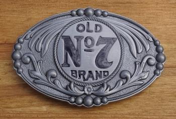 """Belt buckle   """" Old no 7 brands  """"  Jack Daniels"""