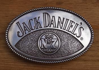 """Belt buckle   """" Jack Daniels  Old no 7 brands  """""""