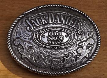"""Belt buckle   """" Jack Daniels  """"  Bloemenmotief"""