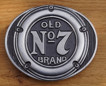 "Belt buckle   "" Old brands no 7  ""   Jack Daniels"