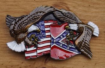"""Siergesp  """" Adelaar met rebel en USA vlag  """""""