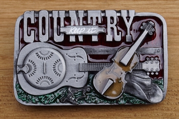 "Belt buckle  "" Country """