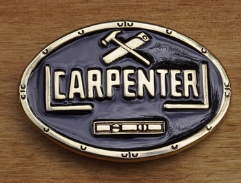 "Losse gesp  "" Carpenter ""  Zwart / goudkleurig"