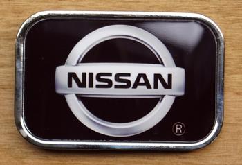 "Automerk  gesp  ""  Nissan ""   Zwart"
