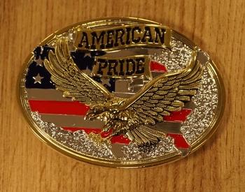 """Buckle  """" Vliegende adelaar """"  Goud- / zilverkleurig"""