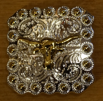 "Concho  "" Buffalo schedel  ""  Zilver- / goudkleurig"