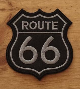 """Applicaties  """" Route 66 """"  zwart / grijs"""