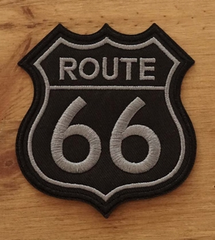 "Applicaties  "" Route 66 ""  zwart / grijs"